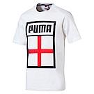 足球系列國旗短袖T恤-英格蘭(M)