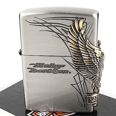 ZIPPO 日系~Harley-Davidson-哈雷-3面連續金屬貼飾打火機