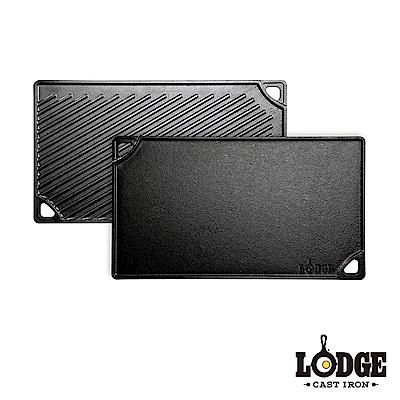 Lodge 鑄鐵雙面牛排煎盤 42.5x24cm