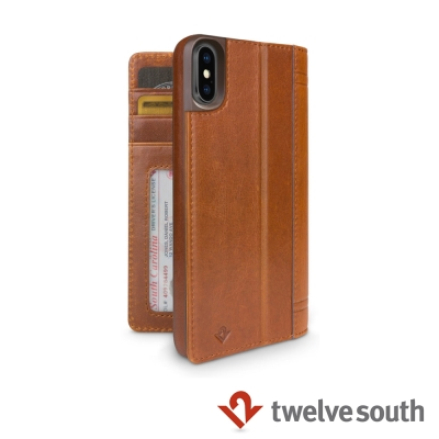Twelve South Journal iPhone X 皮革卡夾保護套