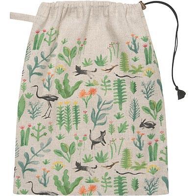 DANICA 棉麻束口袋(祕密花園)