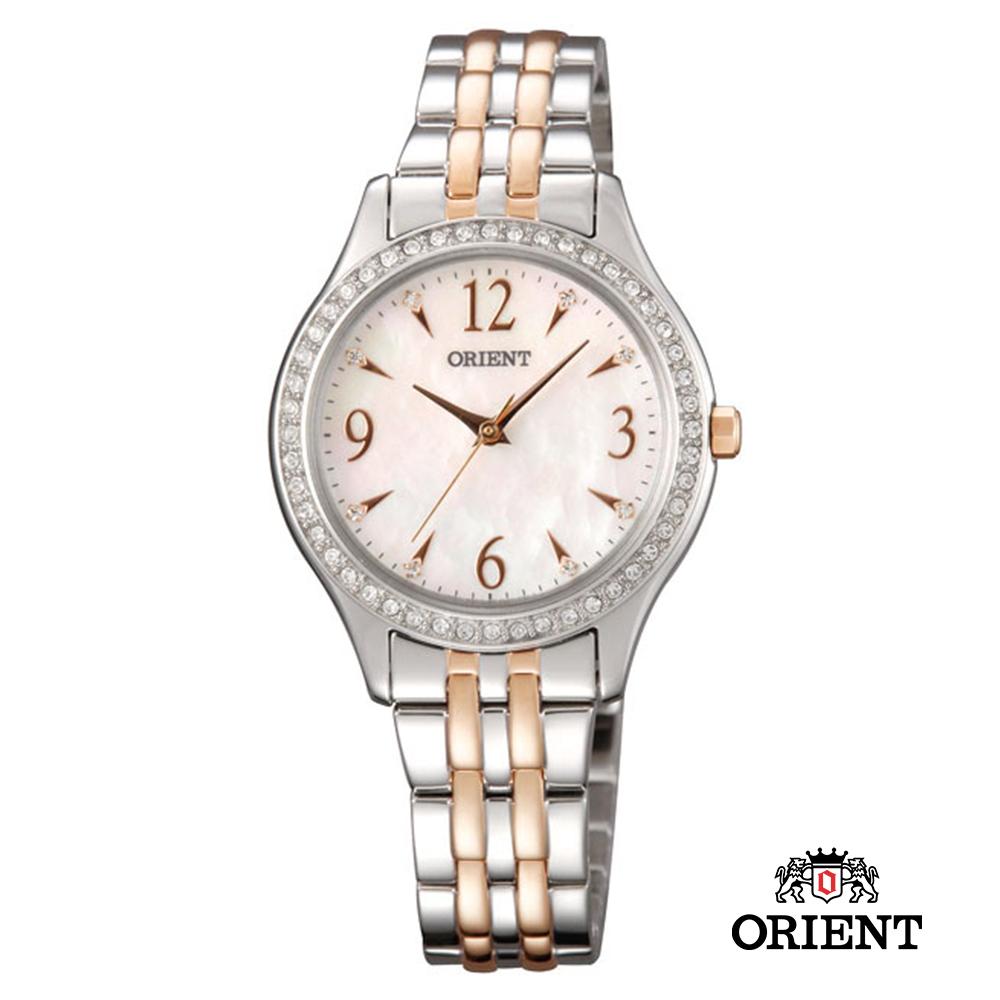 ORIENT 東方錶 DRESS系列 時尚晶亮珍珠貝女錶-30mm