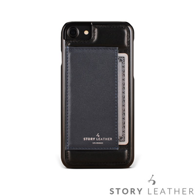 STORYLEATHER i7 / i8 4.7吋 手機殼 小牛皮黑現貨