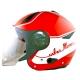 ZEUS瑞獅3/4罩式ZS-612A彩繪安全帽AD1(紅白) product thumbnail 1
