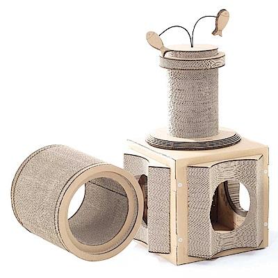 派斯威特-CATTYLEGO 貓咪樂購第二代三合一超值組 貓抓板玩具-PCT-2377