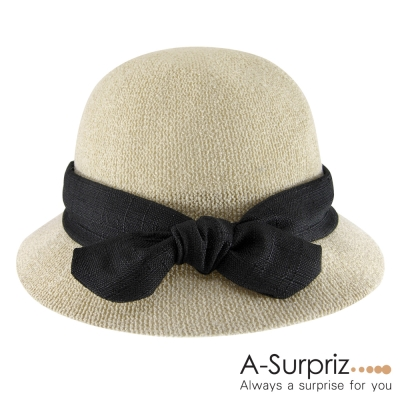A-Surpriz-素雅佳人蝴蝶結遮陽帽-米卡