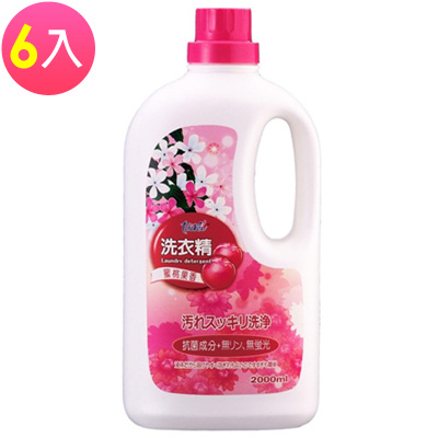 LIVIN CARE 蜜桃果香洗衣精2000ml(6入)