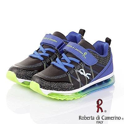 Roberta 吸震抗菌防臭氣墊童鞋-黑(20-23.5cm)