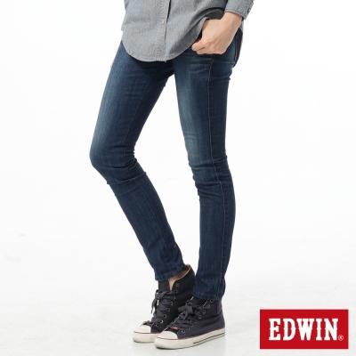 EDWIN 窄直筒 EDGE牛仔褲-女-石洗藍