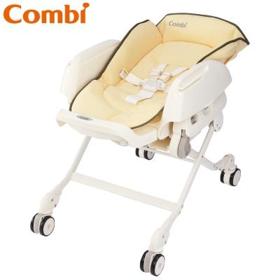 【麗嬰房】Combi Letto ST款 手動安撫餐椅搖床-銀杏黃
