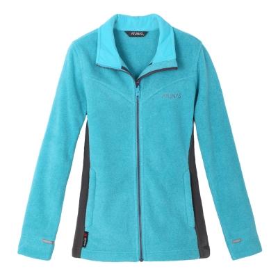 ATUNAS 歐都納 女款POLARTEC刷毛保暖外套 A-G1251W 亮藍/深灰