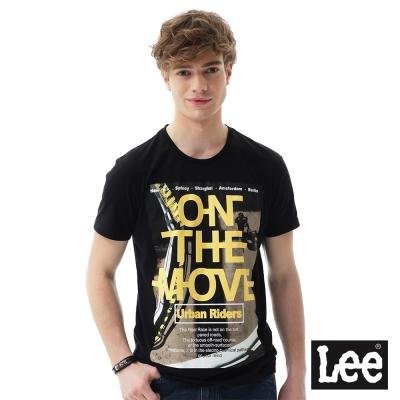 Lee ON THE MOVE印刷短袖T恤 男 黑色