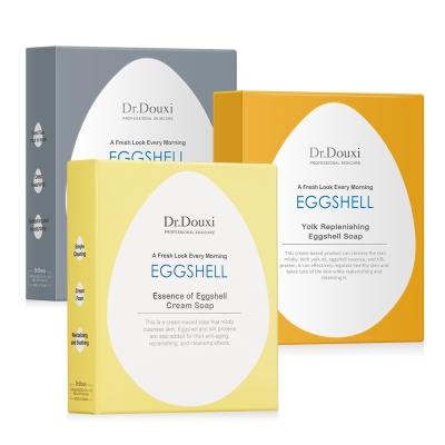Dr.Douxi朵璽 卵殼乳霜皂100g+死海淨膚卵殼皂100g+蛋黃修護卵殼皂100g
