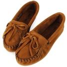 MINNETONKA 咖啡色麂皮素面莫卡辛 女鞋 (展示品)