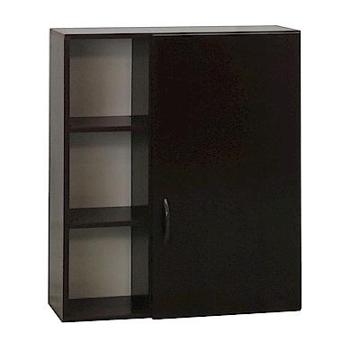品家居 瑪菲2.1尺環保塑鋼浴室單門收納櫃(三色)-64x21.5x80cm-免組