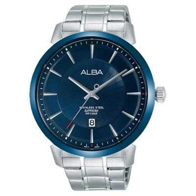 ALBA雅柏 爵士時尚手錶(AS9E91X1)-藍x銀/44mm