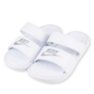 NIKE-BENASSI DUO女運動涼拖鞋-白