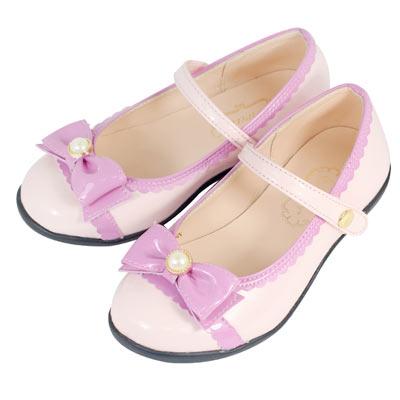 Swan天鵝童鞋-小蘿莉低跟公主鞋 3761-粉