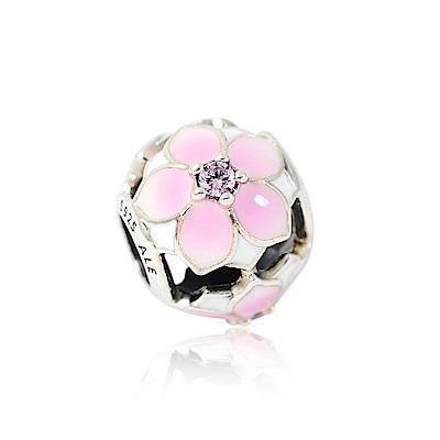 Pandora 潘朵拉 木蘭花鑲鋯 純銀墜飾 串珠