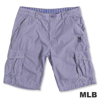 MLB-紐約洋基隊六口袋直紋短褲-深藍(男)