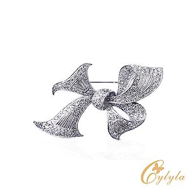 Cylyla思琳娜 施華洛世奇元素蝴蝶水晶胸針別針B9560G