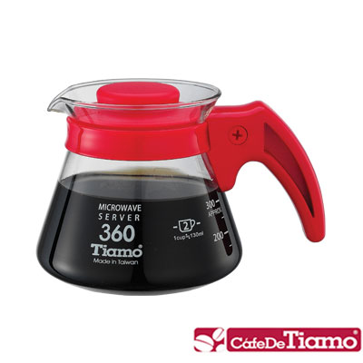 Tiamo 耐熱玻璃壺360cc-五色