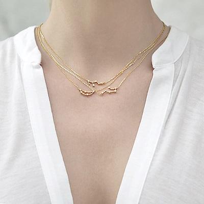 Wanderlust+Co 澳洲品牌 獅子座項鍊 金色鑲鑽項鍊 LEO