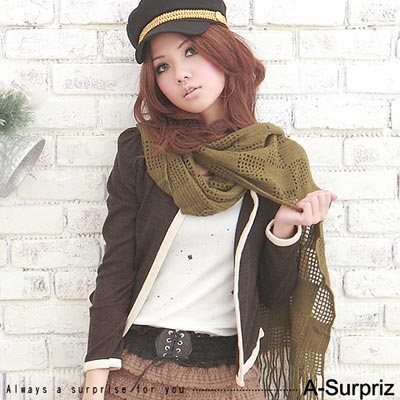 A-Surpriz 波希米亞蕾絲荷葉邊彈性腰封(黑)