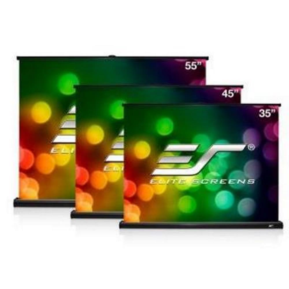 Elite Screens 55/50吋 4:3/16:9 行動式微型桌拉幕 PC55W