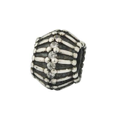 Pandora 潘朵拉 水晶刻紋純銀墜