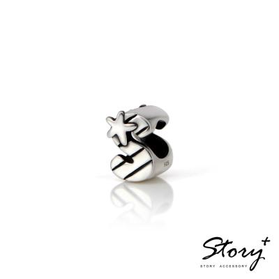 STORY故事銀飾-串珠墜飾-字母珠 S