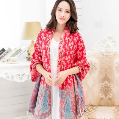 Seoul Show樓蘭葉語 棉質編織圍巾(紅色)