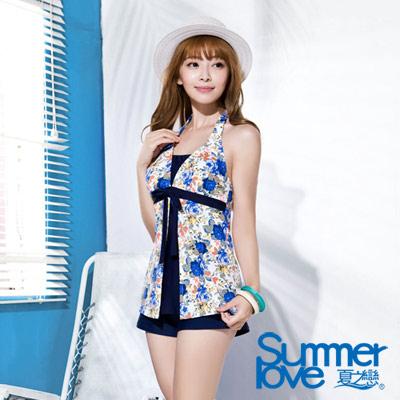 夏之戀SUMMERLOVE 印花長版三件式泳衣