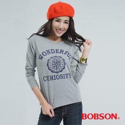 BOBSON 印圖上衣(灰色)