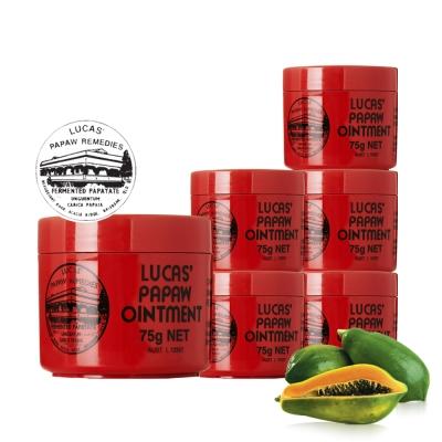 Lucas Papaw Ointment 澳洲木瓜霜 75g/瓶x6入