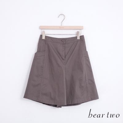 beartwo 立體剪裁造型口袋修身褲裙(二色)