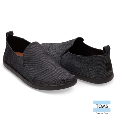 TOMS 帆布素面懶人鞋-男款