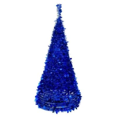 6尺(180cm) 創意彈簧摺疊聖誕樹(藍色系)(可快速組裝)