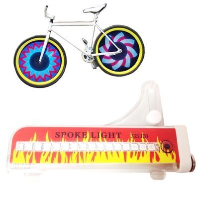 PUSH! 自行車用品第3代全彩32LED開關 + 雙控裝置設計自行車警示燈車輪燈一入