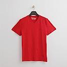 Hang Ten - 男裝 - 有機棉 基本V領T恤-紅色