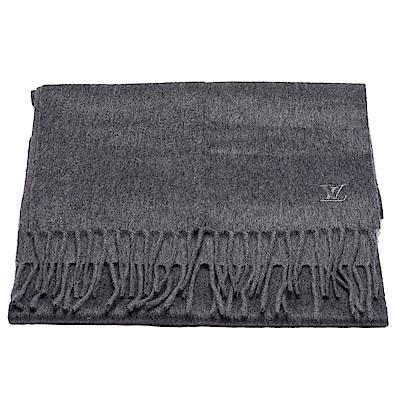 LV M75364經典Jhelam系列織花CASHMERE羊絨圍巾(淺灰色)