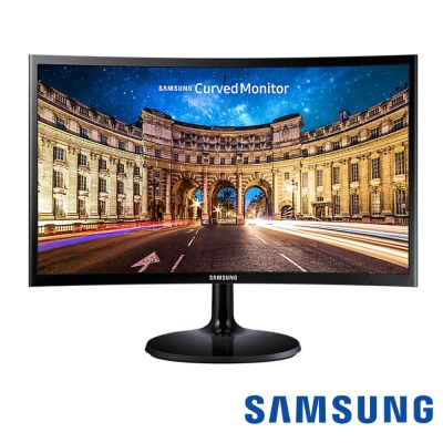 SAMSUNG C24F390FHE 24型 VA 曲面電腦螢幕