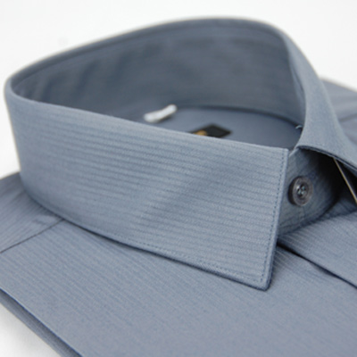 金-安德森-灰色條紋類絲質短袖襯衫fast