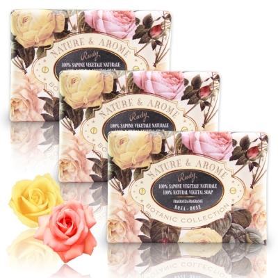 義大利Rudy米蘭古典玫瑰花保濕香皂150g三入