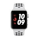 [無卡分期-12期] Apple Watch Nike+行動網路,42mm銀鋁配黑色錶帶