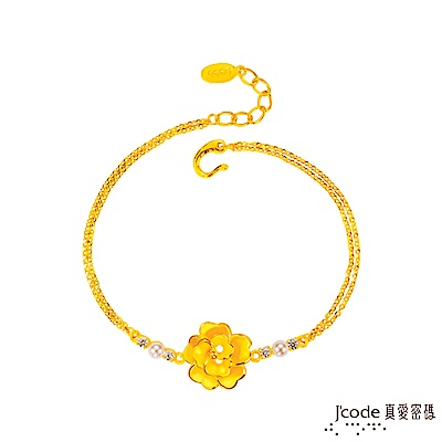 J'code真愛密碼 賞花黃金/水晶珍珠手鍊