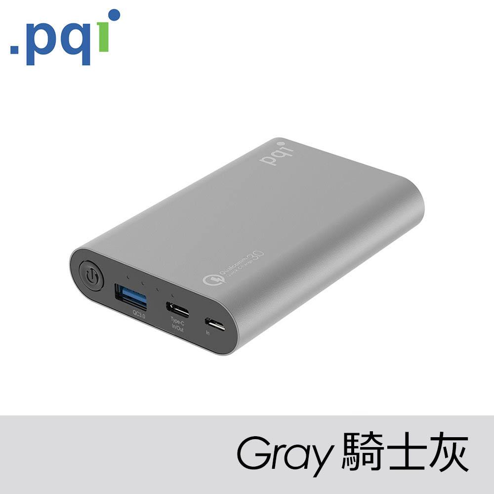 PQI Power 10000V QC 3.0 Type-C 行動電源 騎士灰