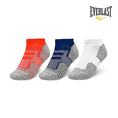 EVERLAST 美國運動品牌-棉質運動短襪三件組-男