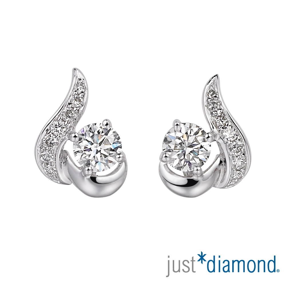 Just Diamond 18分18K金 鑽石耳環-馨語