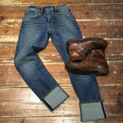 牛仔褲 男款 505C 中腰標準直筒/ 小窄管 赤耳 硬挺厚磅 微彈性- Levis
